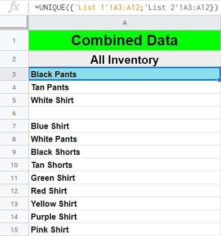 5 formulas that combine columns in Google Sheets