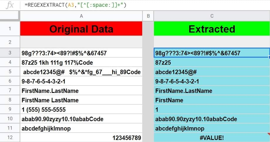All the ways to extract text or numbers from a string in Google Sheets
