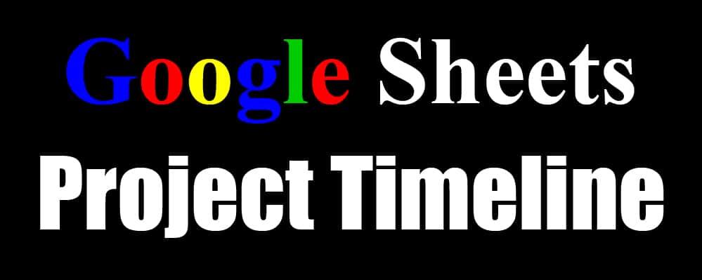 Project Management Timeline Templates For Google Sheets Gantt Chart